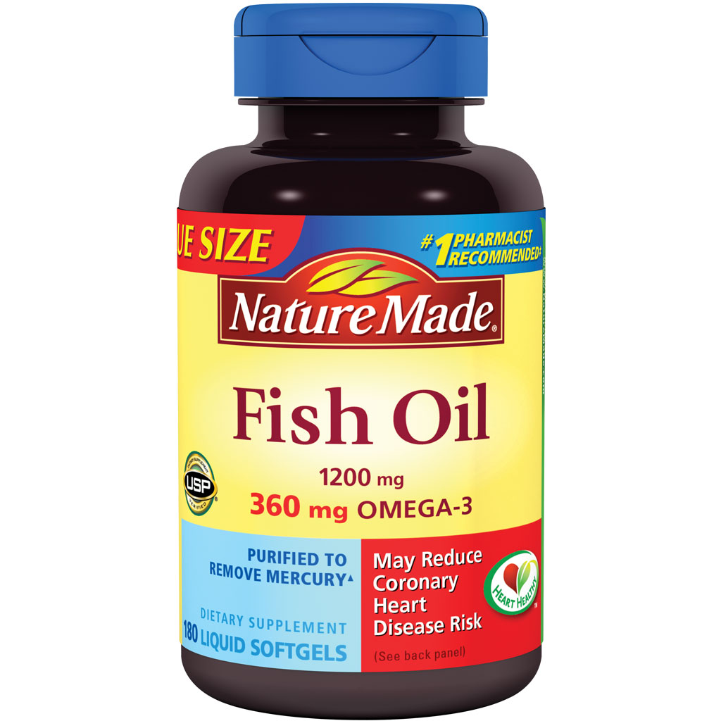 Nature made fish oil omega 3 1200mg 180 for On fish oil