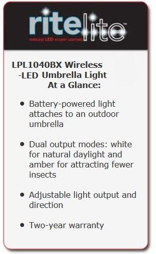 Best Seller Rite Lite LPL1040BX Battery Operated LED Umbrella Light