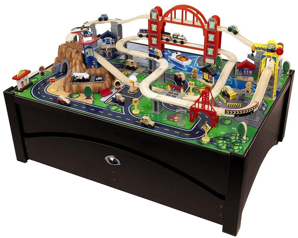 Amazon Com Metropolis Train Table Amp Set Toys Amp Games