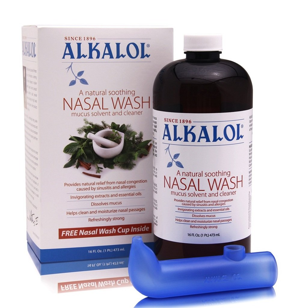 Amazon.com: Alkalol - A Natural Soothing Nasal Wash, Mucus Solvent and