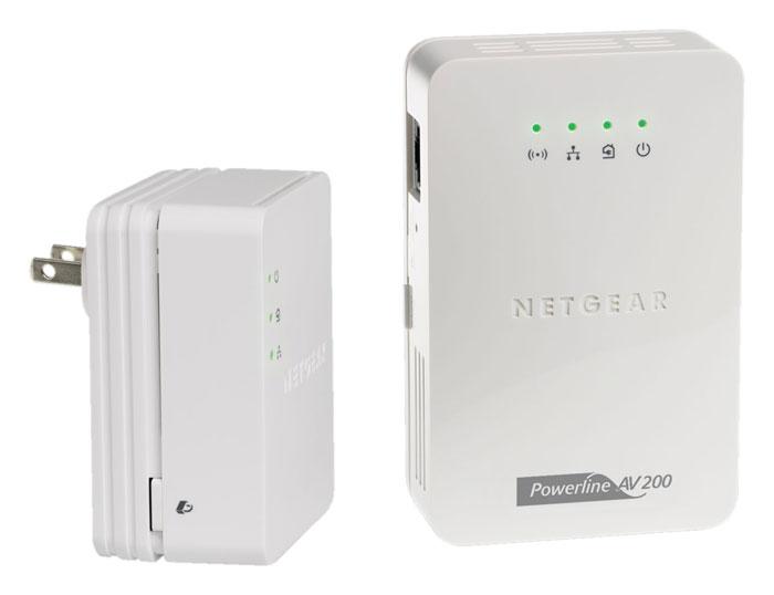 netgear powerline av 200 wireless n extender kit xavnb2001 100nas ebay. Black Bedroom Furniture Sets. Home Design Ideas
