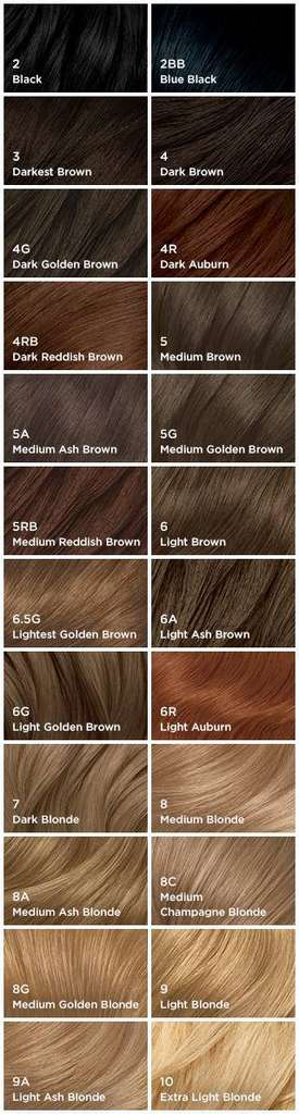 shades - Clairol Nice And Easy Colors