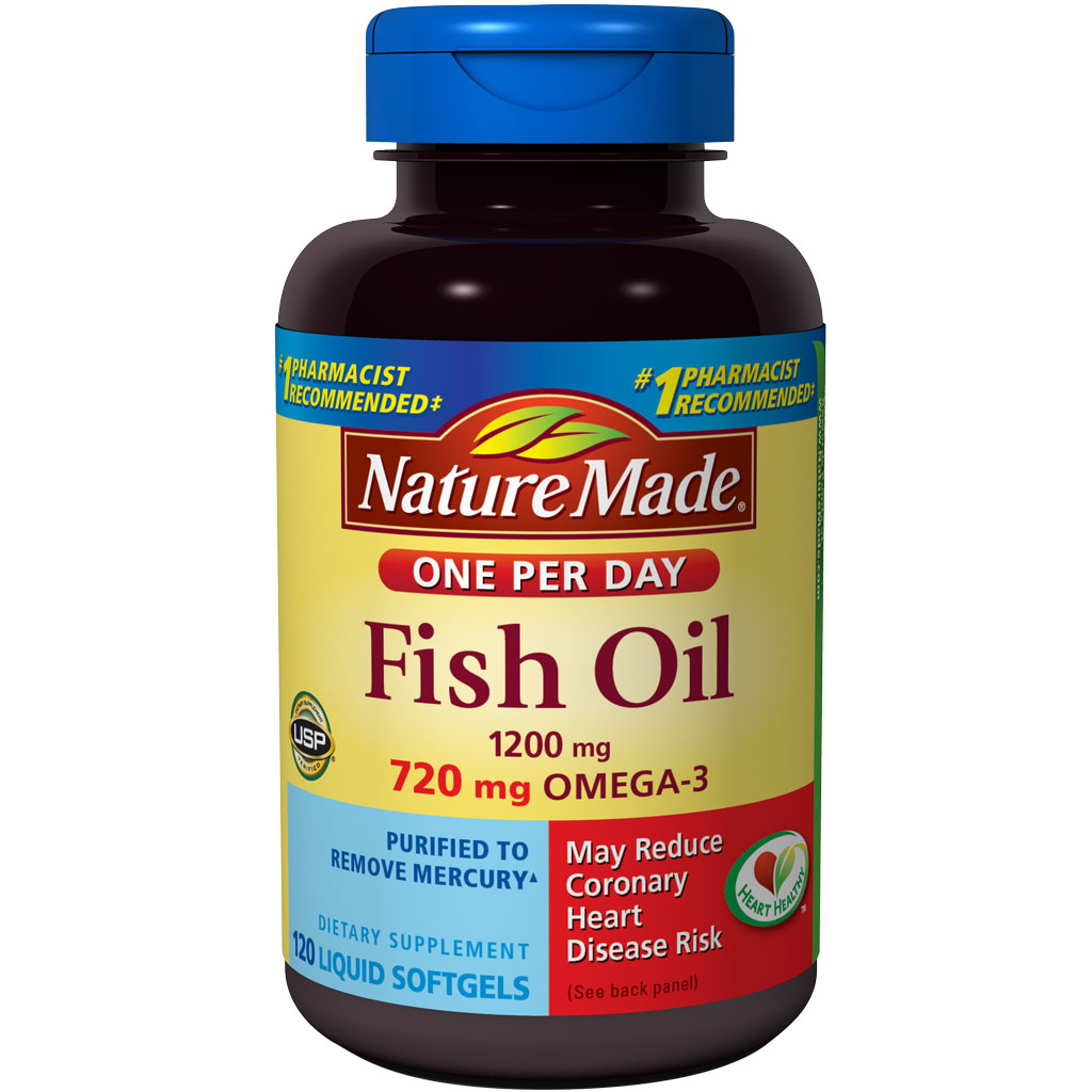 Nature made one a day fish oil 1200mg 120 for Nature made fish oil