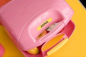 Labeled lunch box