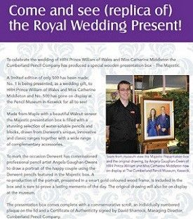 See the replica of the Royal Wedding Present