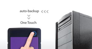 One-touch synchronization and backup