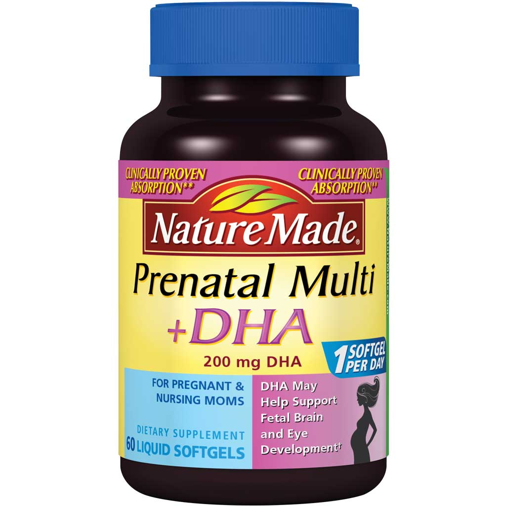 amazon com nature made prenatal dha 200 mg softgels 60 ct health
