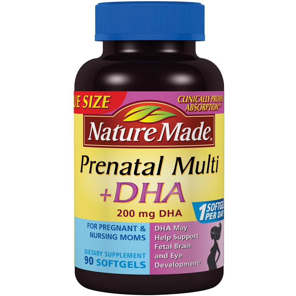 Manufacturer Information and Claims about Nature Made Prenatal Multi + DHA