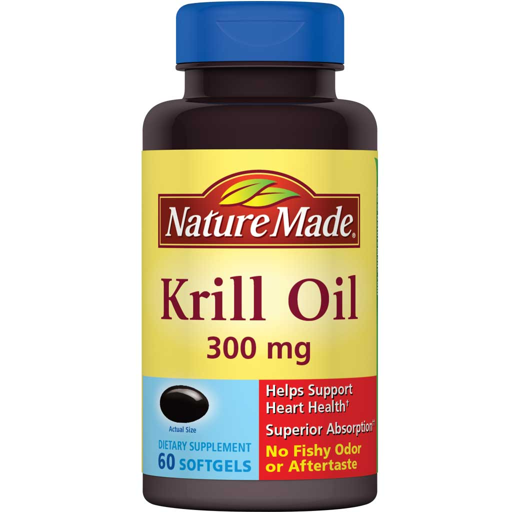 Nature made krill oil 300 mg softgels w omega for Triglyceride fish oil
