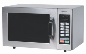 B005GSPVHS 1 t  Panasonic NE 1054F NSF Approved 0.8 cuft Stainless Steel Commercial Microwave Oven, 1,000 Watts and Touch Control Keypad