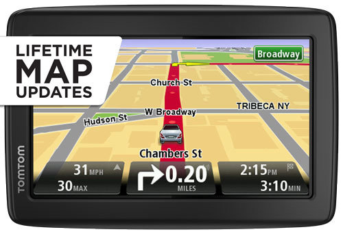 tomtom via 1505m 5 inch portable gps navigator with lifetime maps home audio theater. Black Bedroom Furniture Sets. Home Design Ideas