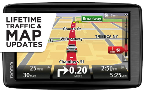 tomtom via 1605tm 6 inch gps navigator with lifetime traffic maps cell phones. Black Bedroom Furniture Sets. Home Design Ideas