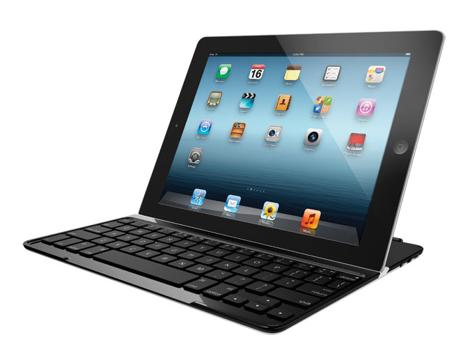 logitech ultrathin keyboard cover black for ipad 2 and ipad 3rd 4th generation. Black Bedroom Furniture Sets. Home Design Ideas
