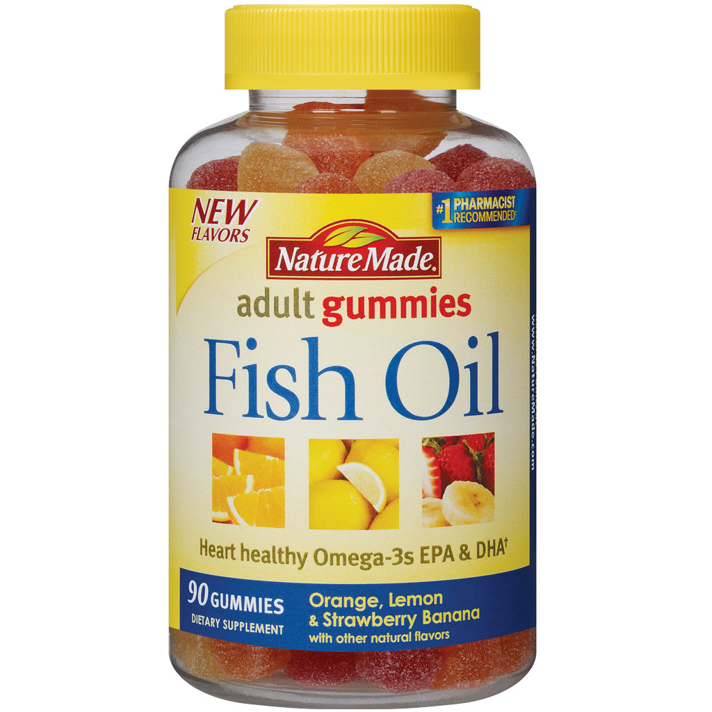 Nature made fish oil adult gummies 90 count for Fish oil good for