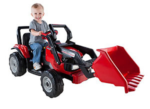 Kids will delight in operating this construction tractor with its extra-large front loader.