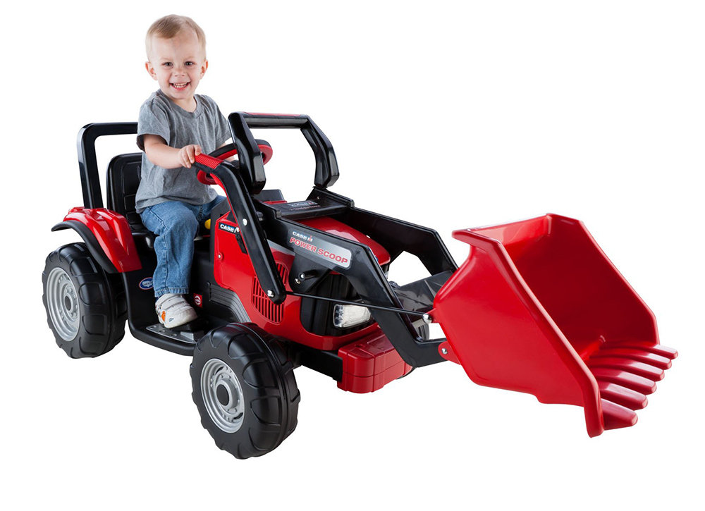 Construction Riding Toys For Boys : Amazon peg perego case ih power scoop toys games