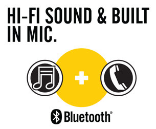 Hi-fi sound and built-in mic