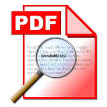 Searchable PDF for Faster Retrieval