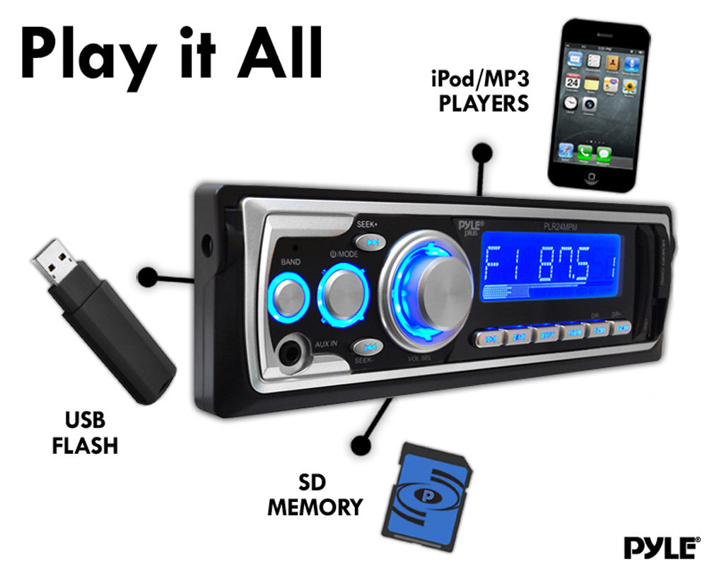 Amazon Com  Pyle Plr24mpm Am  Fm Receiver Mp3 Playback With