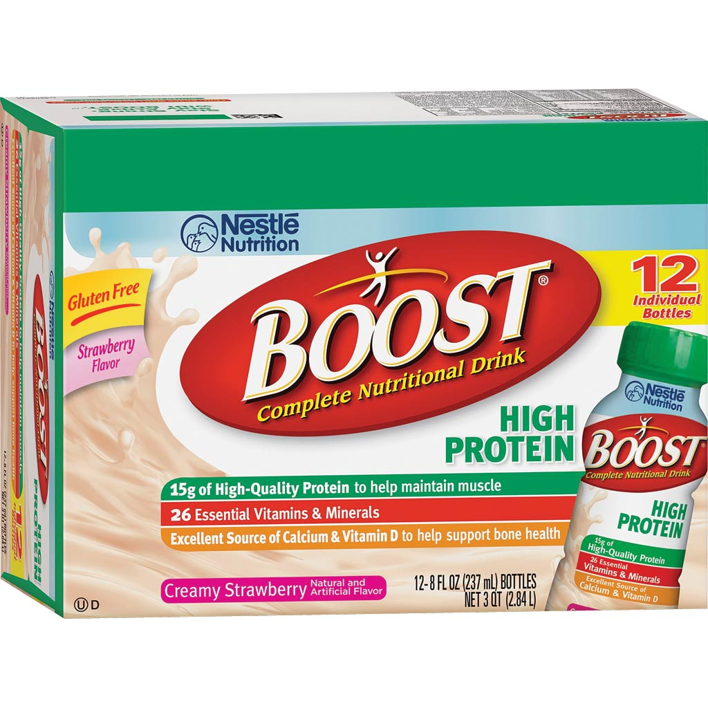 Boost High Protein Nutritional Energy Drink Strawberry 6: Amazon.com : Boost Hi Protein Creamy Strawberry Ready To