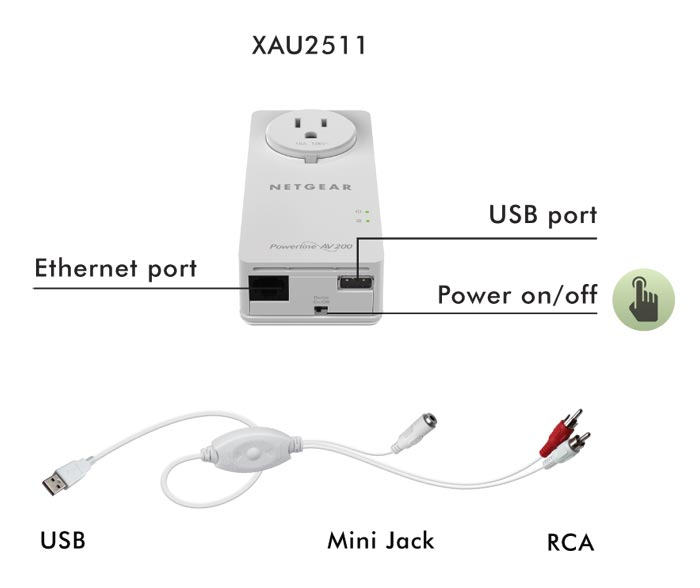 serial to usb adapter wiring diagram amazon.com: netgear powerline 200mbps 2-port passthru ...