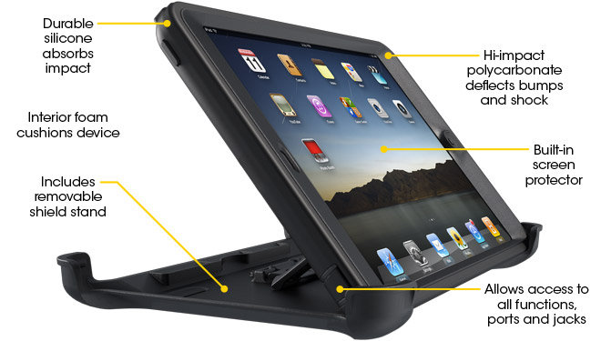 Amazon Com Otterbox Defender Series Case For Ipad Mini 1