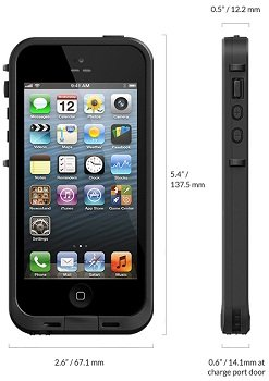 huge discount 962e3 27c4c LifeProof FRĒ iPhone 5 Waterproof Case - Retail Packaging - BLACK  (Discontinued by Manufacturer)
