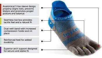 Injinji Performance 2.0 Esecuzione Leggero Toe Socks BAREFOOT RUNNING TRAIL RUNNER