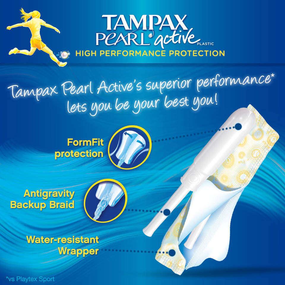 Amazon.com: Tampax Pearl Active Plastic, Regular