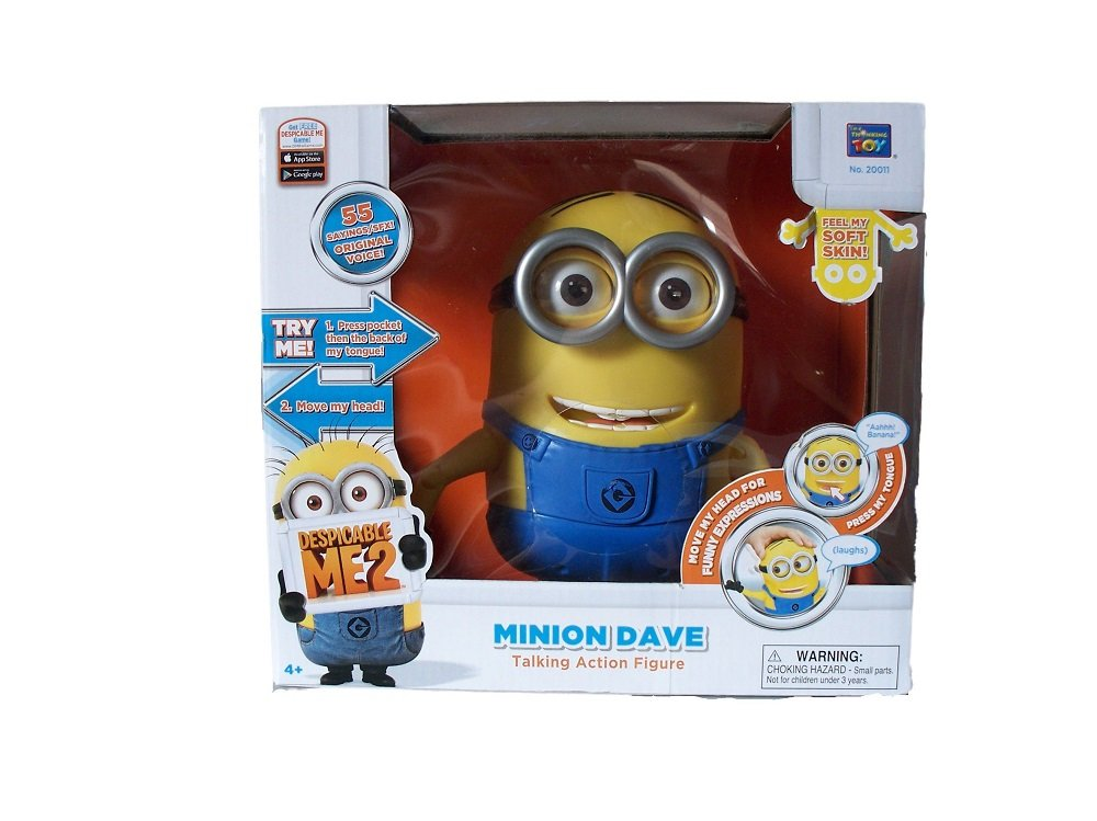 Minion Toys And Games : Amazon despicable me minion dave talking action
