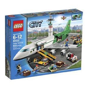 Get busy loading the cargo at the LEGO City Cargo Terminal.