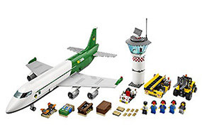 It's another busy day at the LEGO City Cargo Terminal.