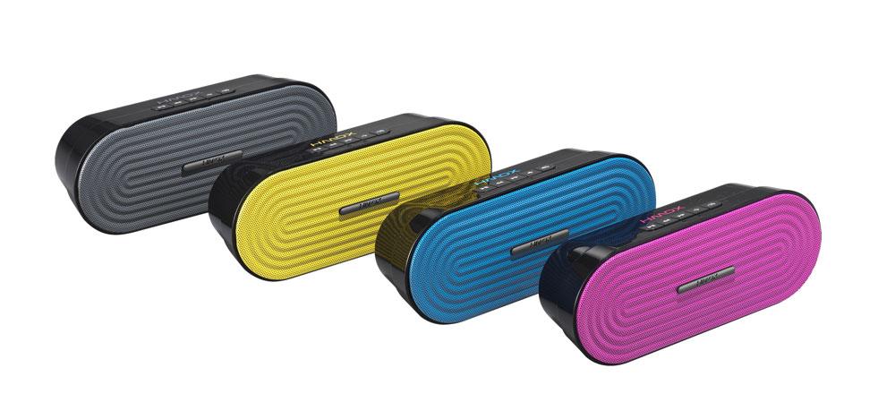 HMDX Rave Portable Rechargeable Bluetooth Wireless Audio Speaker Gray