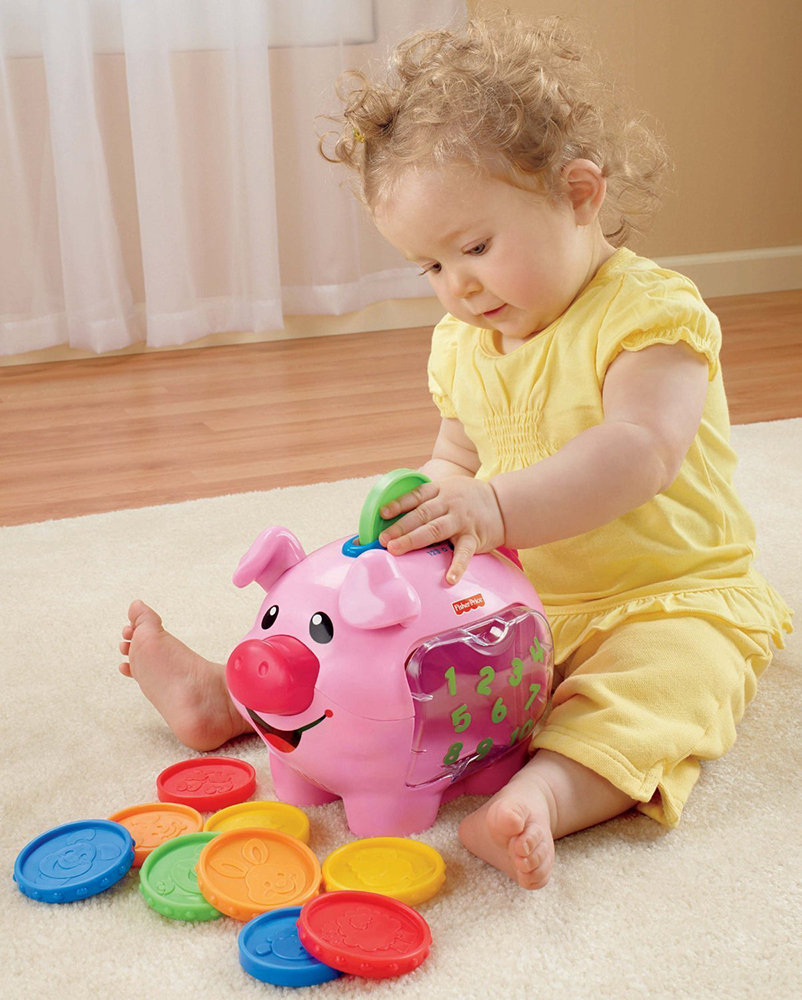 Amazon.com: Fisher-Price Laugh & Learn: Learning Piggy Bank: Toys & Games