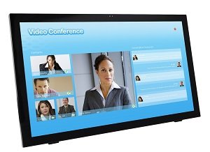 Planar 24-inch Touch Screen Monitor - side view