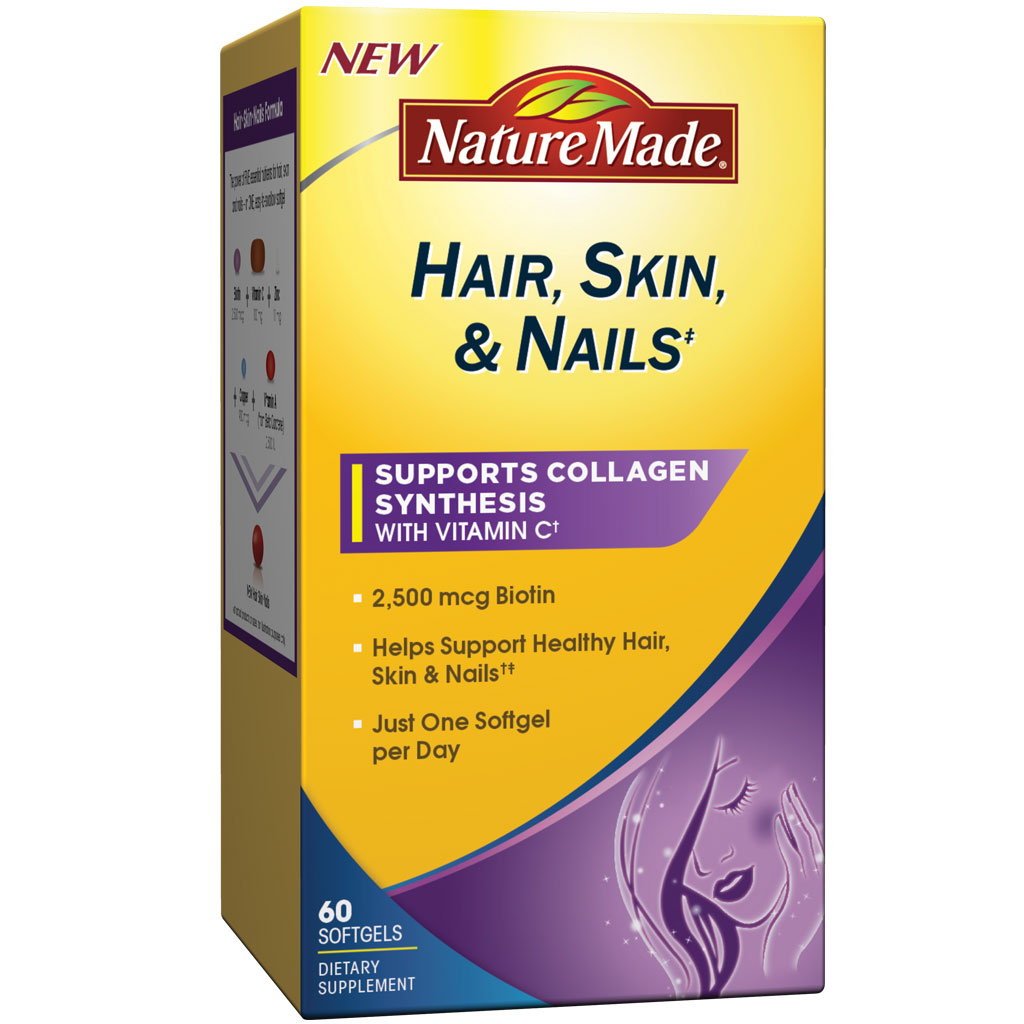 Amazon.com: Nature Made Hair, Skin, Nails with Biotin Softgel, 2500 ...