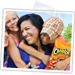 Family with CHEETOS