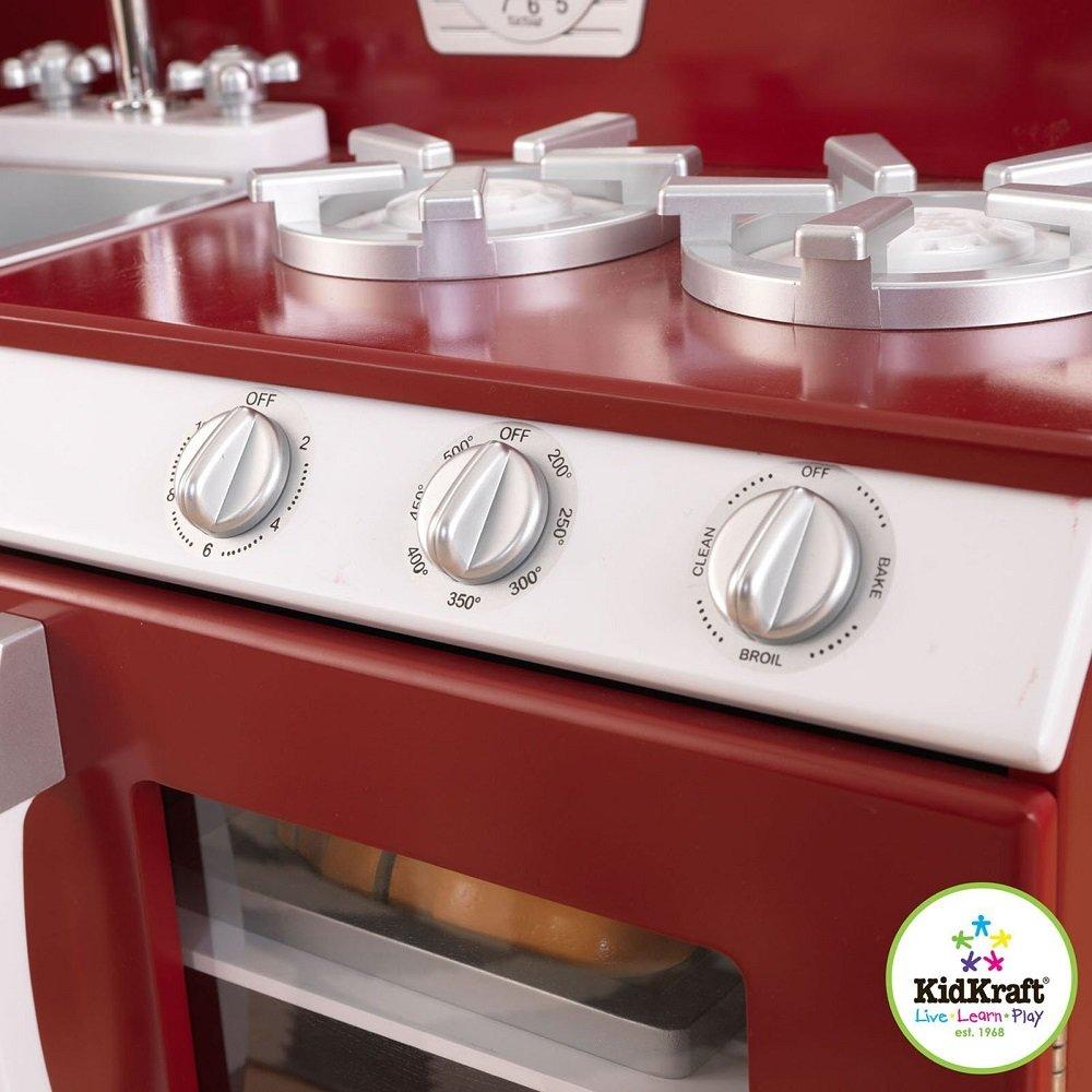 Amazon.com: KidKraft Cranberry Retro Kitchen And