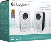 Logitech Multimedia Speakers Z150 (White)