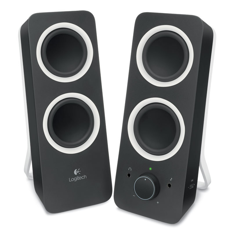 logitech z200 with stereo sound for multiple devices black computers accessories. Black Bedroom Furniture Sets. Home Design Ideas