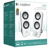 9e04784793b Logitech Multimedia Speakers Z200 with Stereo Sound for Multiple ...