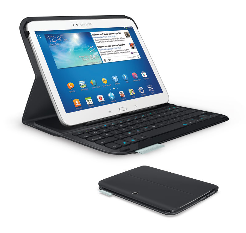 new products 062cb 84605 Logitech Ultrathin Keyboard Folio for 10.1-Inch Samsung Galaxy Tab 3
