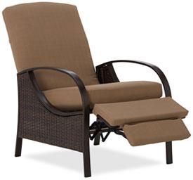 Amazon.com : Strathwood All-Weather Wicker Deep Seating Outdoor Recliner : Patio, Lawn & Garden