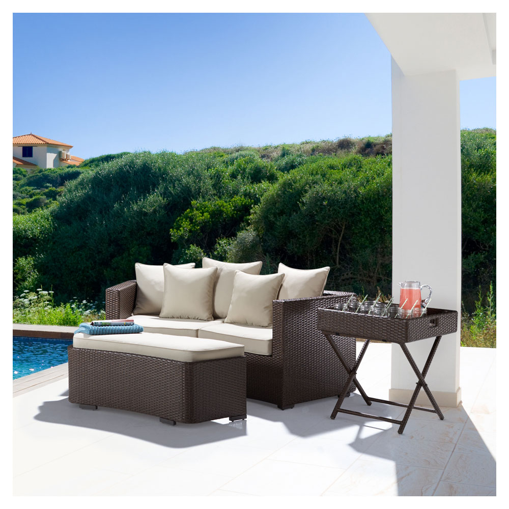 Strathwood griffen all weather wicker folding for Outdoor furniture amazon