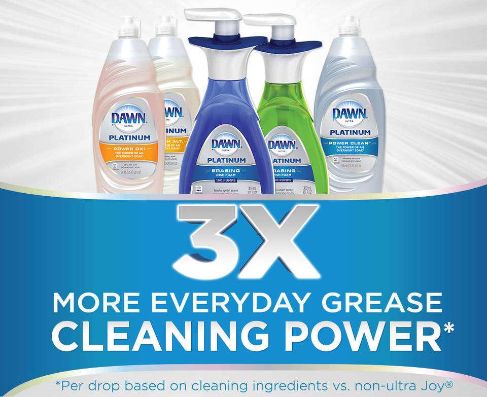 Amazon.com: Dawn Platinum Erasing Dish Foam, Dishwashing ...