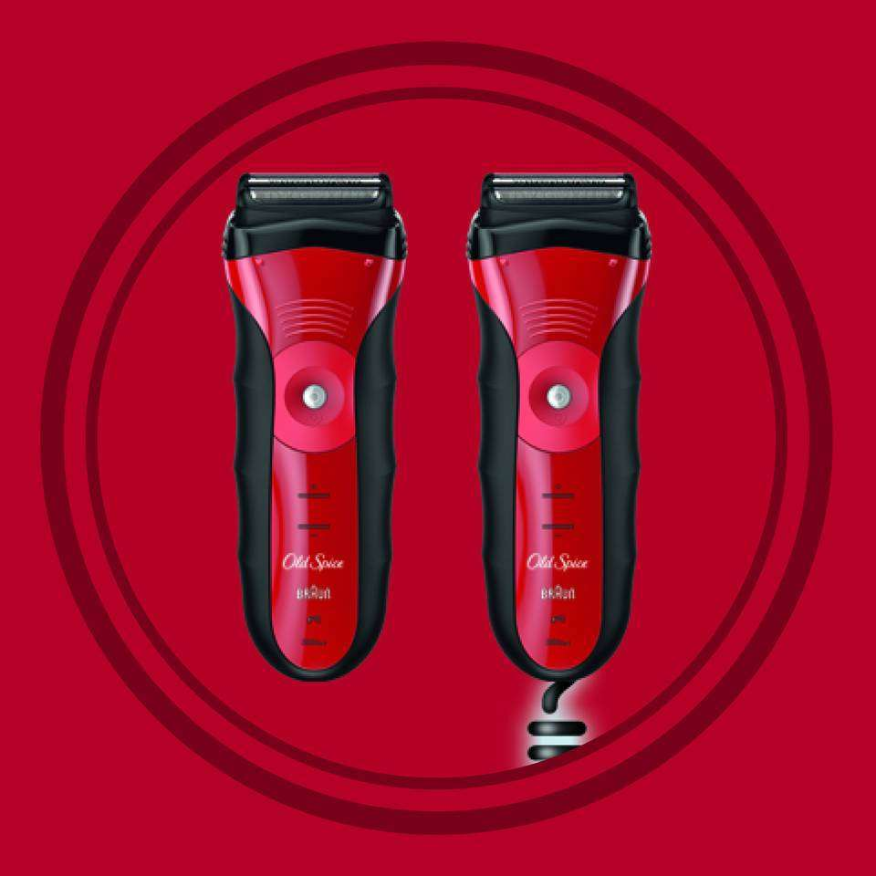 Amazon Com Old Spice Men S Electric Foil Shaver Electric Razor Red Black Beauty