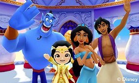 Join the Genie, Jasmin, & Aladdin in your own world