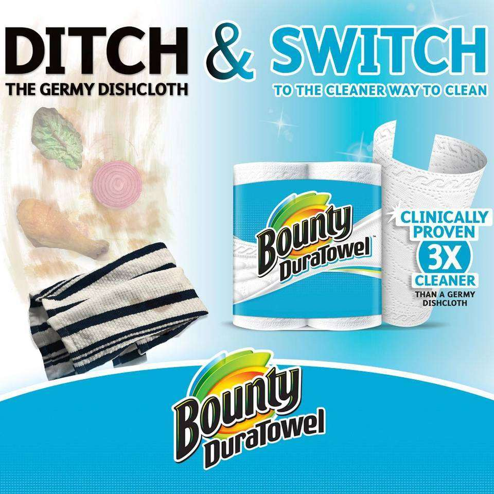 What two brand of paper towels are mostly bought?