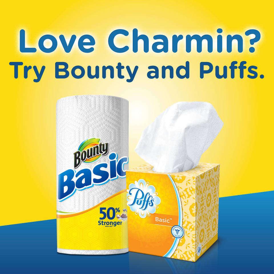 Amazon.com: Charmin Basic Toilet Paper, Bath Tissue, Huge Roll, 12 ...