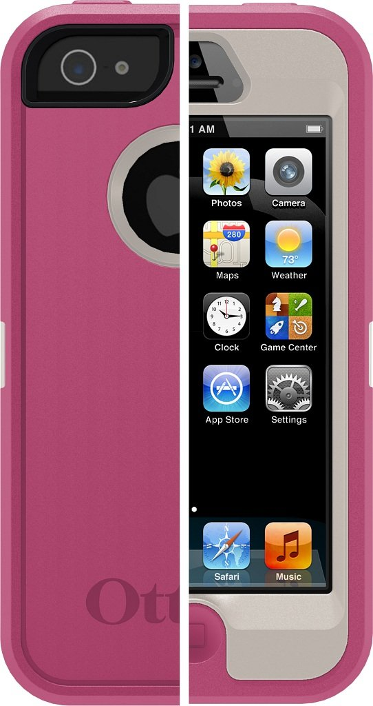 on sale 2dab7 cd9bf OtterBox Defender Series Case for iPhone 5 Protective Case for iPhone( Not  for iPhone 5C or 5S) - Pink